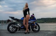 Blond Yamaha Beach Babe