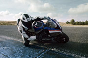 BMW HP4 Race Knee Down