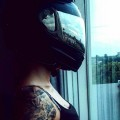 Helm Tattoo Babe