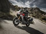 Yamaha MT-09 Tracer silber rot mit Koffer