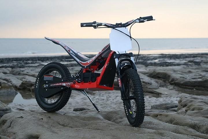 oset spider 16 0 36v trial bike f r kinder motofreak. Black Bedroom Furniture Sets. Home Design Ideas