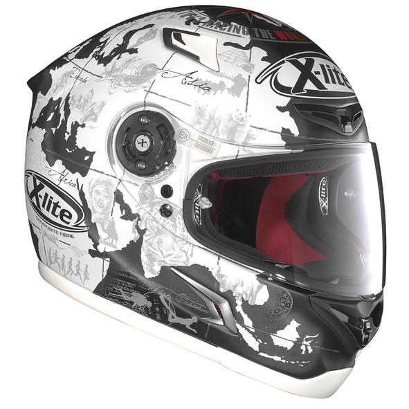 carlos checa zeigt neuen x lite helm in aragon motofreak. Black Bedroom Furniture Sets. Home Design Ideas