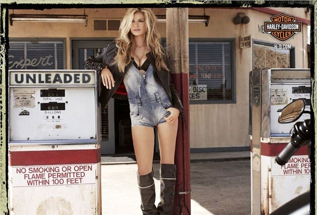 Harley Davidson: Marisa Miller In Neuer Harley-Davidson Kampagne